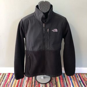 The North Face Fleece Jacket Zipper Up Black Large